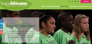 Hope Blooms is a Nova Scotian Social Enterprise that pitched Dragons Den.