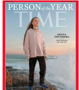 Greta Thunberg was named Time Magazine's Person of the Year in 2019 due to her climate change activism