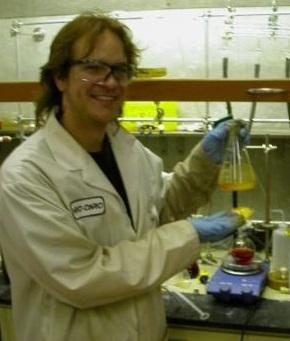 Jessie in the lab