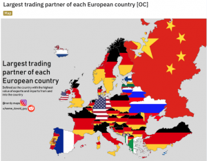 Largest trading partner of each European country